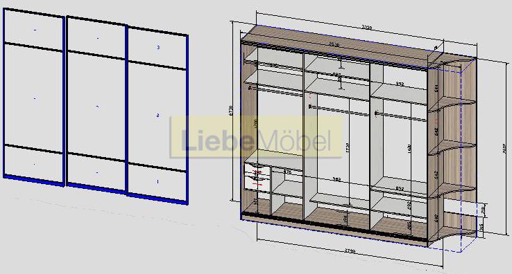 Корпусной шкаф #3. схема эскиз